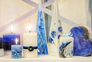 Estonian festive candles