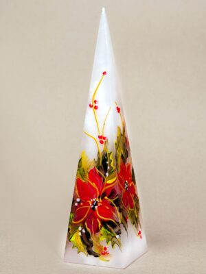 Handpainted pyramid candle Christmas star