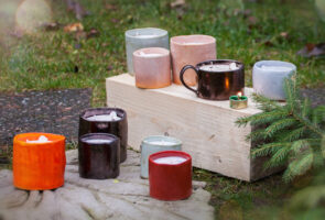 Vegetable wax candles