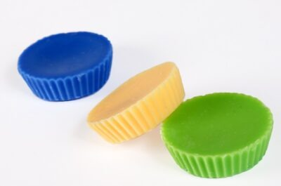 kollane, roheline ja sinine rapsivahast aroomivaha tablett