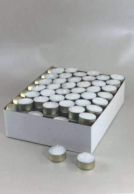Lõhnata valged teeküünlad hulgi
