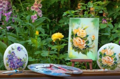 maalitud juubeliküünlad