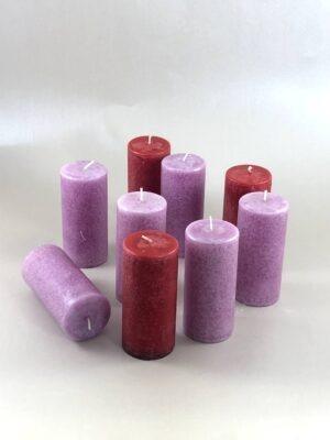 lõhnata küünlad, roosa ja punane