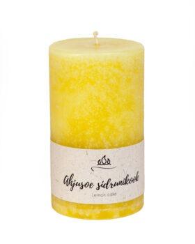 Ahjusoe sidrunikook - hõrk lõhnaküünal käsitöö helekollane