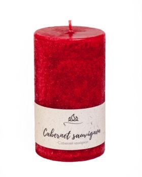 Cabernet Sauvignon - punane vein, rikkalik marjase aroomiga lõhnaküünal punane,käsitöö