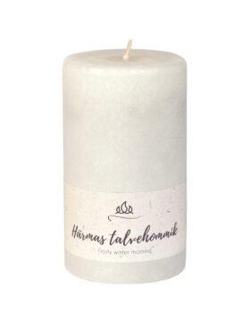 Härmas talvehommik lõhnaküünal, helehall, käsitöö.
