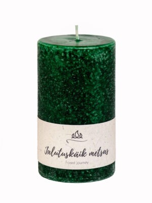Scented candle A walk in the forrest, forest green, handmade