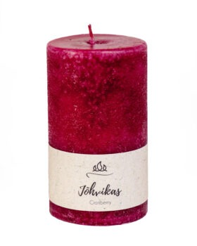 Scented candle Cranberry, purple, handmade