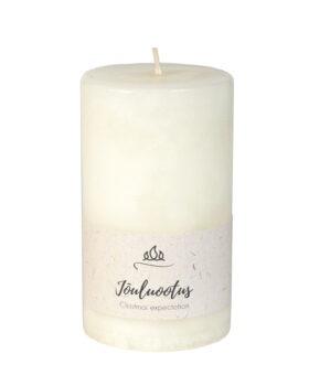 Jõuluootus lõhnaküünal, valge, käsitöö.