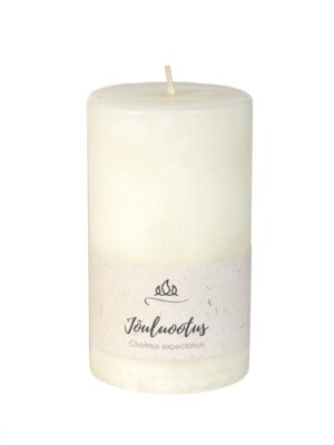 Scente candle Christmas expectation, white, handmade