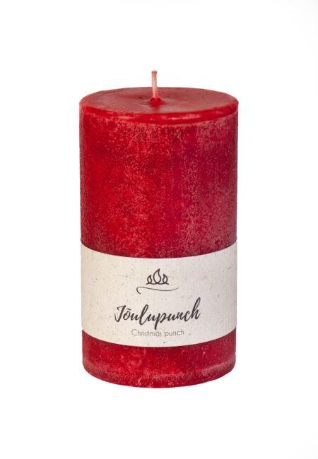 Jõulupunch lõhnaküünal, punane, käsitöö