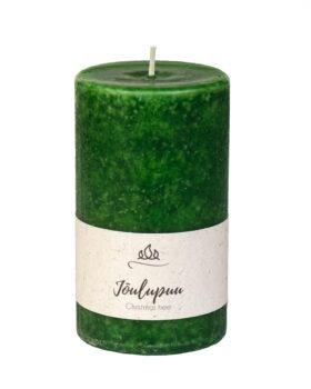 Jõulupuu lõhnaküünal tumeroheline, käsitöö