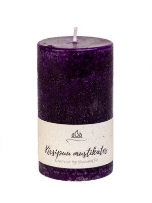 Scented candle Cherrytree in the blueberries, dark purple, handmade