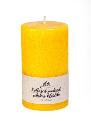 Scented candle Dandelion, yellow, handmade