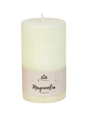 Scented candle Magnolia, white, handmade