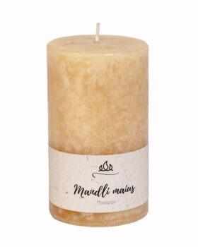 Mandli maius lõhnaküünal - mandel ja suhkur, käsitöö, naturaalvalge
