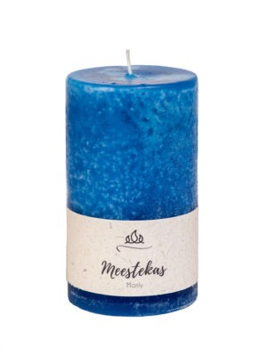 Scented candle Manly, dodger blue, handmade