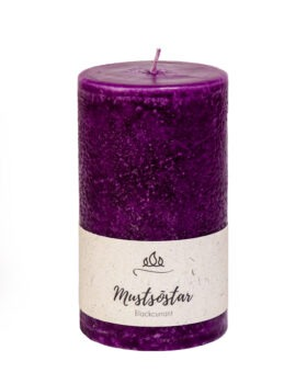 Scented candle Blackcurrant, dark purple, handmade