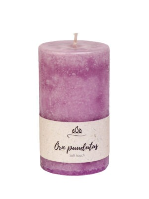 Scented candle Soft touch, light pink, handmade