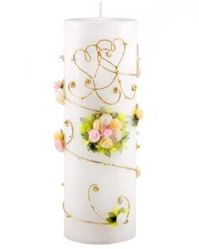 """Käsitsi valmistatud pulmaküünal """"Õhus on armastus"""""""