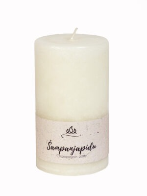 Scented candle Champagne party  The sweet and fruity aroma of bubbling champagne.  Coloured through scented candle. White.