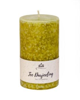 Tea darjeeling rahustav lõhnaküünal käsitöö roheline